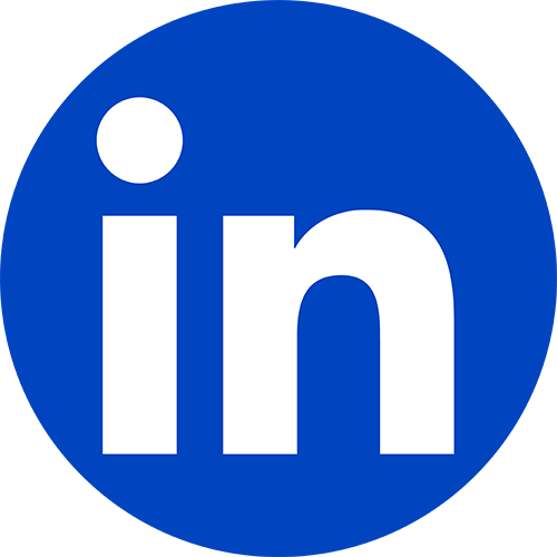 icon linkedin blue